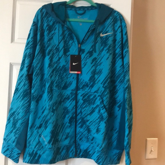 Nike Other - Nike Therma-Fit fill zip hoodie Men's XL blue